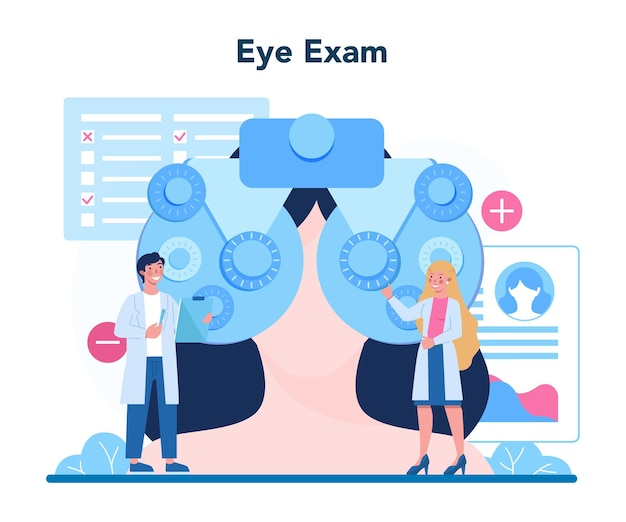 Idea of eye care and vision