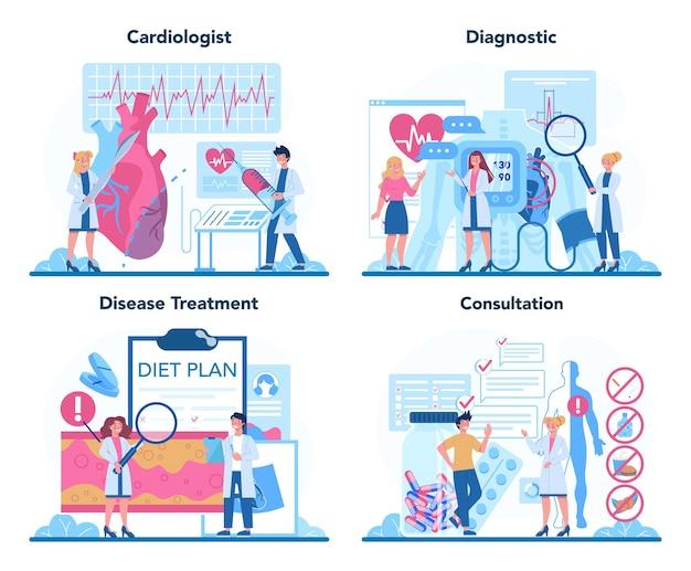Idea of heart care and medical diagnostic