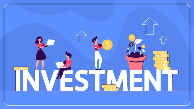 Idea of investment and finance wealth web banner.