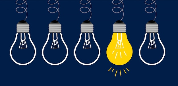 Idea light bulbs