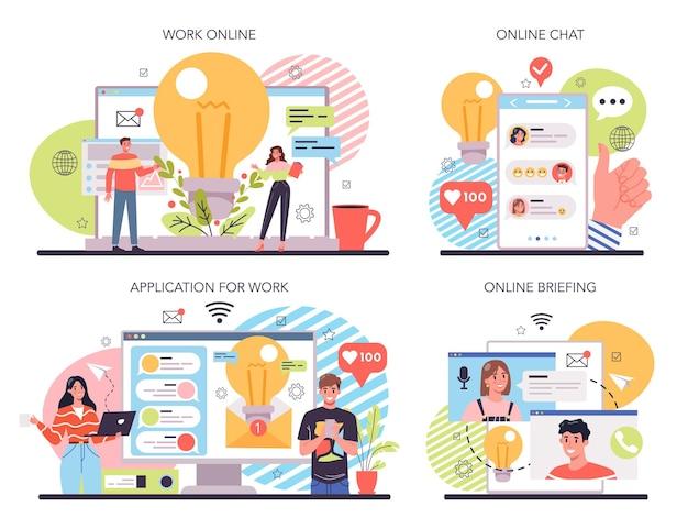 Idea online service or platform set