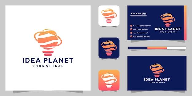 Идея планеты логотип и визитная карточка