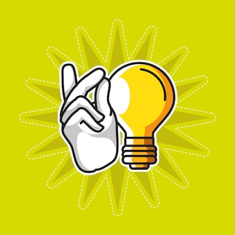 Idea snapping finger