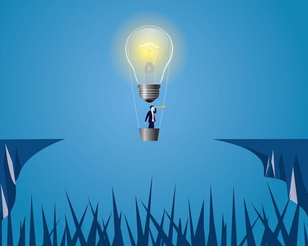 Idea solution symbolとしての電球。ベクトル図