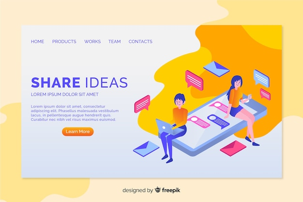 Ideas landing page