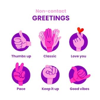 Идеи бесконтактного приветствия, посылающего хорошие флюиды