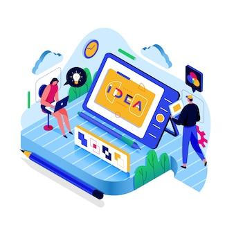 Идеи на цифровых устройствах изометрической концепции