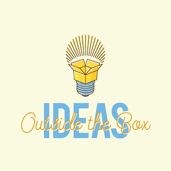 Ideas outside the box abstract   concept logo template.