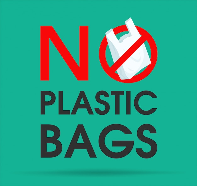 Ideas to reduce pollution say no to plastic bag.