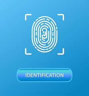 Identification fingerprint verification poster