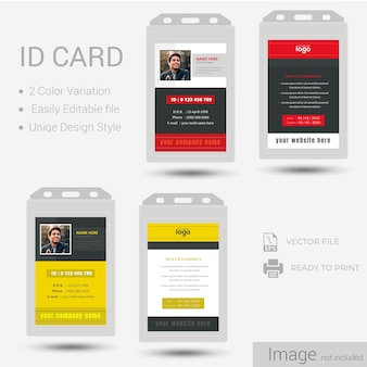 Identification or id card design.