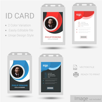 識別またはIDカードの設計。