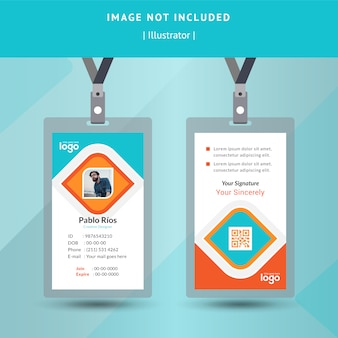 Identification or Id Card Vector Design