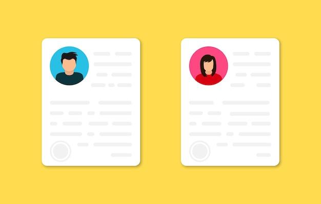 識別。個人情報データ。写真付きid付きの個人プロフィール文書