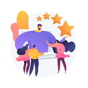 Identity branding coach. self improvement course, personality reputation, boosting self esteem. online mentorship webinar on personal positioning. vector isolated concept metaphor illustration