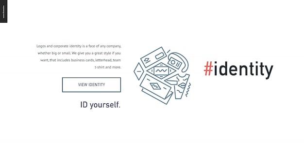 Identity development block website template