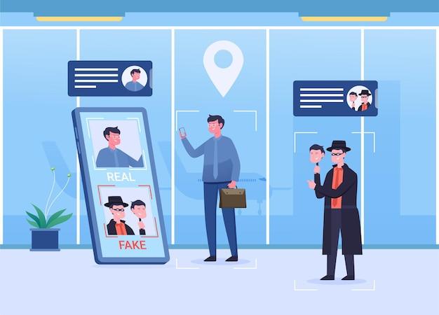 公共の場所での本人確認、データ保護、データセキュリティ、データ盗難