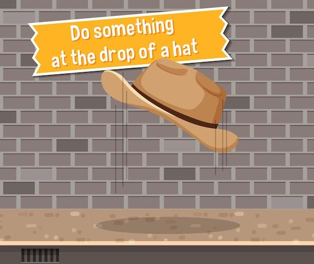 帽子をかぶって何かをするイディオムポスター