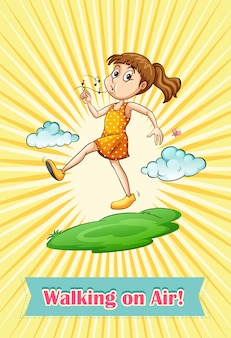 Idiom walking on air