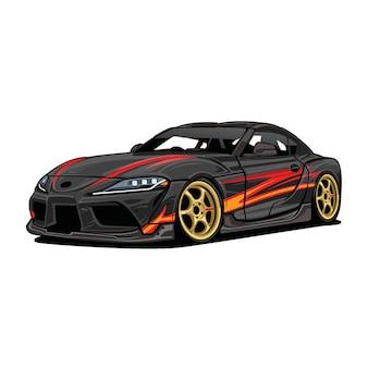 Idrift car vectorllustrator