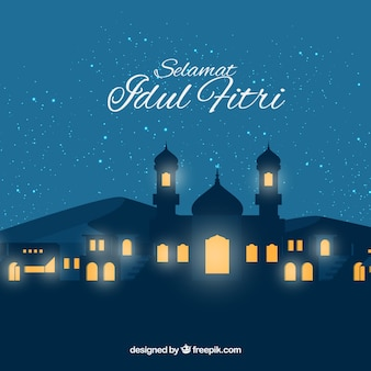 Idul friti background with mosque