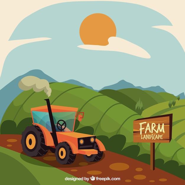 목가적 인 농장 풍경