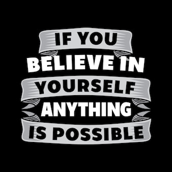 If you believe in.