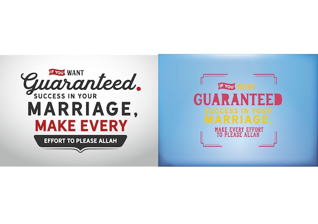 If you want guaranteed success in you marriage,