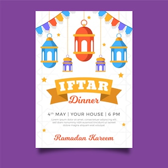 Tema del modello di invito iftar