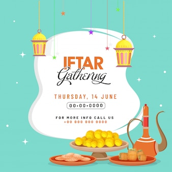 Iftar party celebration invitation card