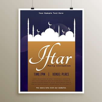 Iftar party celebration poster for ramadan kareem
