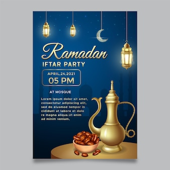 Iftar party invitation template
