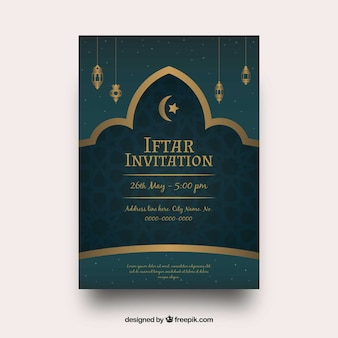 Iftar vectors photos and psd files free download iftar party invitation with golden ornaments stopboris Gallery