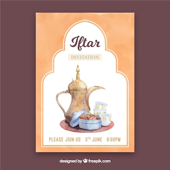 Iftar party invitation with tea products