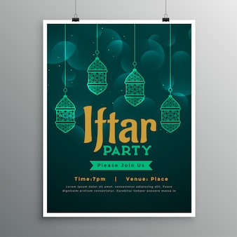 Iftar party poster