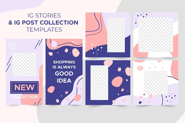 Ig stories + ig post collection templates