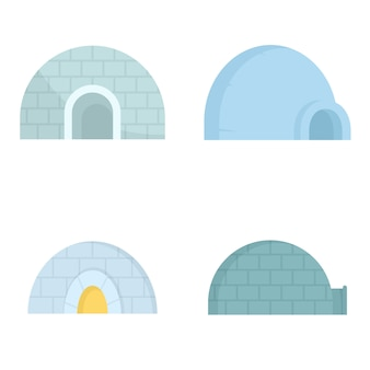 Igloo icon set