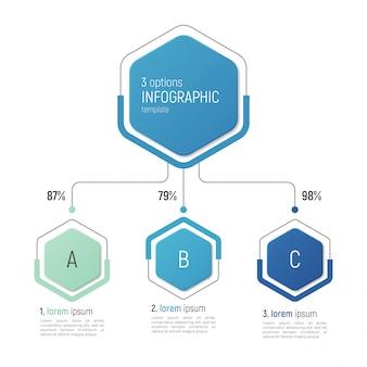 데이터 시각화를위한 iinfographic 템플릿. 옵션.