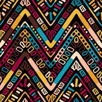Геометрический фольклорный орнамент икат. племенной этнической вектор текстуры. бесшовный скандинавский полосатый узор в стиле ацтеков. рисунок племенной вышивки. индийский, скандинавский, цыганский, мексиканский, народный узор.