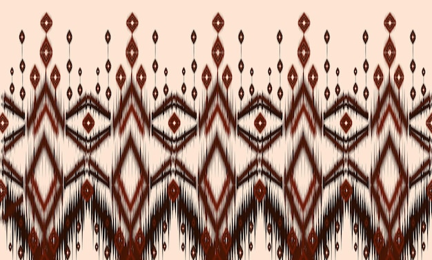 Икат геометрический фольклорный орнамент с бриллиантами. дизайн для фона, ковер, обои, одежда, упаковка, батик, ткань, векторная иллюстрация. стиль вышивки.