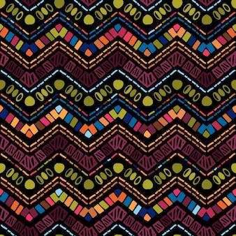 Геометрический зигзагообразный узор икат. племенная этническая тема