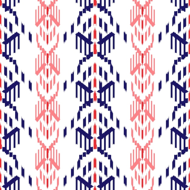 Ikat seamless pattern design.