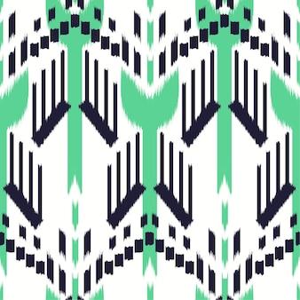 Ikat seamless pattern design.