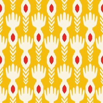 布のためのikatシームレスパターンデザイン