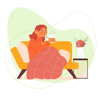 An illness person at home