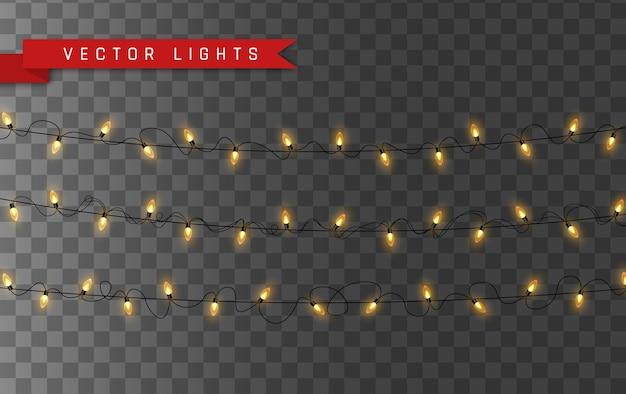 照明付きライト、輝くガーランドストリング、絶縁型。