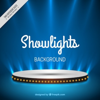 Illuminated stage background