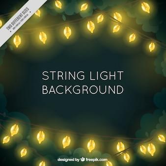 Illuminated string lights background