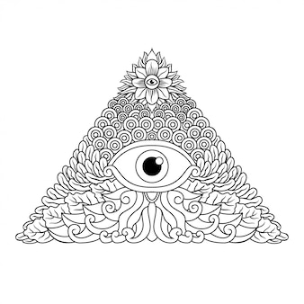 Illuminati hand drawing