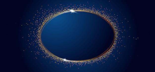 Illustartion of gold glittering sparkle circle